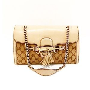 Authentic Gucci Monogram GG Emily Chain Bag